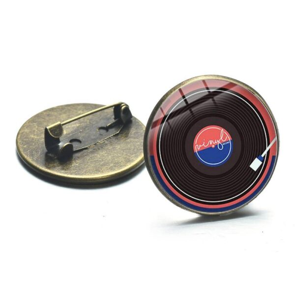 Retro Vinyl Record Brooch Jewellery & Watches Pins & Brooches