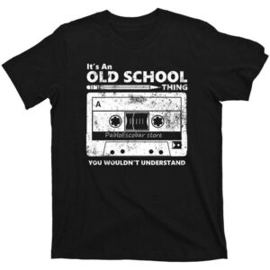 I am Old School Retro Cassette T-Shirt Exclusive DJ Fashion T-Shirts
