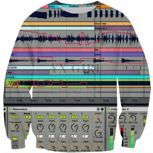 Sweater DAW 3D Print Exclusive DJ Fashion Sweaters