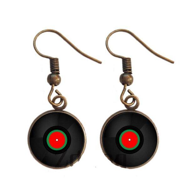 Vinyl Record Dangle Earrings Earrings Jewellery & Watches