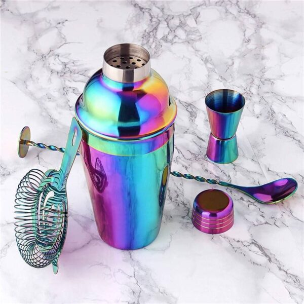 Colorful Cocktail Shaker Set Cocktail Shaker Kitchen Accessories