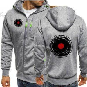 2021 Spring Cardigan Hoodies Sweatshirts Retro Vinyl Record DJ Streetwear Music Men Hoodie Adult Camisetas Hombre Jacket M-XXXL Exclusive DJ Fashion Jackets