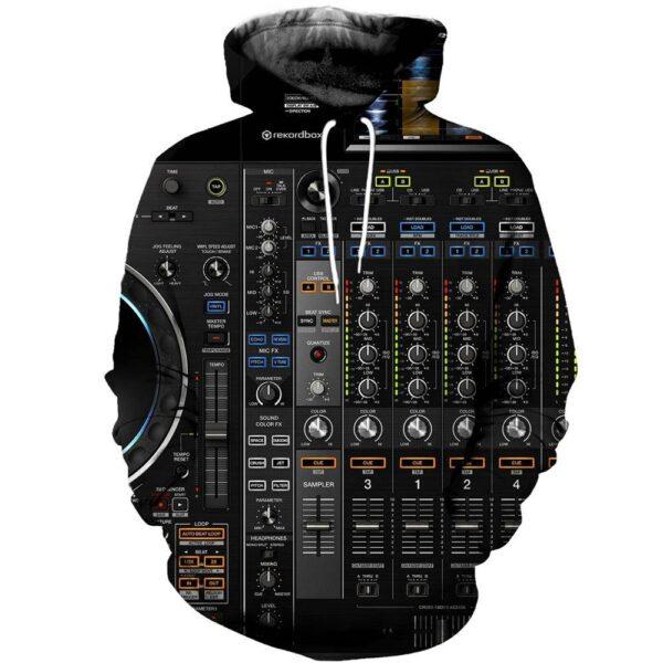 Hoodie DJ Mixer 3D Print Exclusive DJ Fashion Hoodies