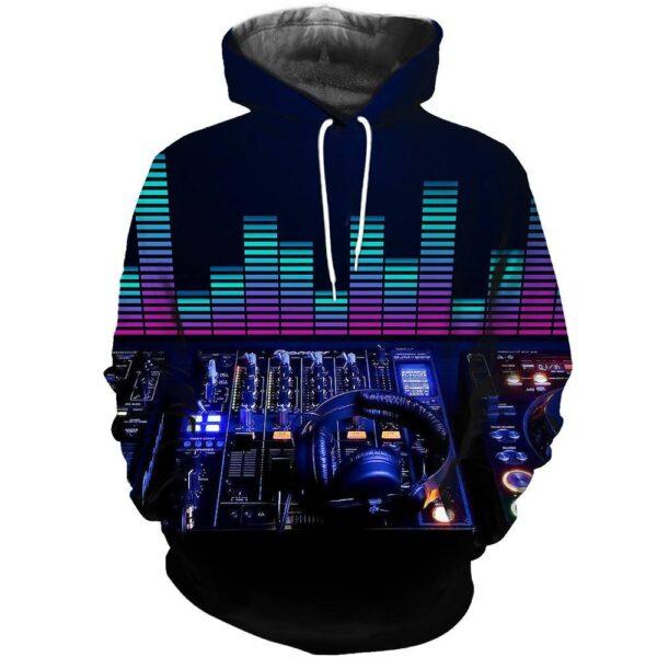 Hoodie DJ Mixer and Headphone 3D Print Exclusive DJ Fashion Hoodies
