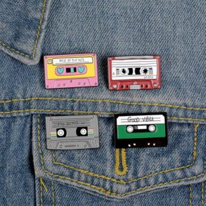 Enamel Pin Cassette Tape Brooch Jewellery & Watches Pins & Brooches