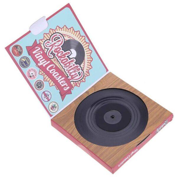 Vintage Vinyl Record Coasters Home Decoration Kitchen Accessories Place Mats & Coasters