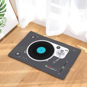 DJ Turntable Bath Mat Bath Mats Carpets Home Decoration