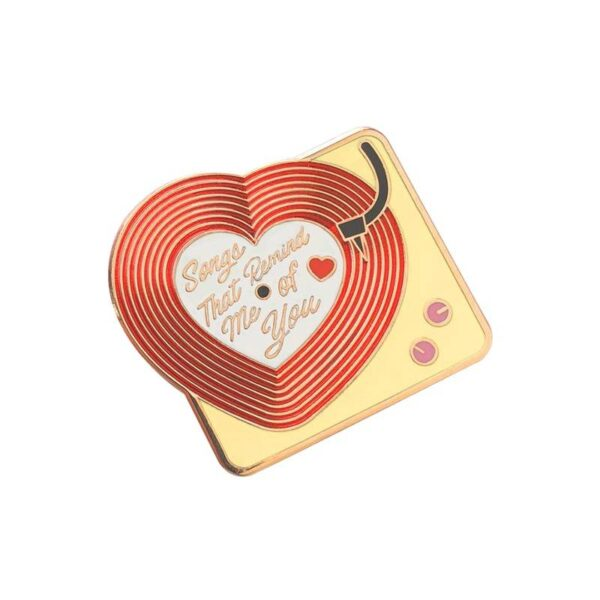 Music Record Player Pin Jewellery & Watches Pins & Brooches