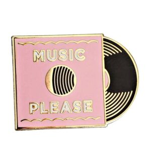Pink Turntable Vinyl Pin Jewellery & Watches Pins & Brooches