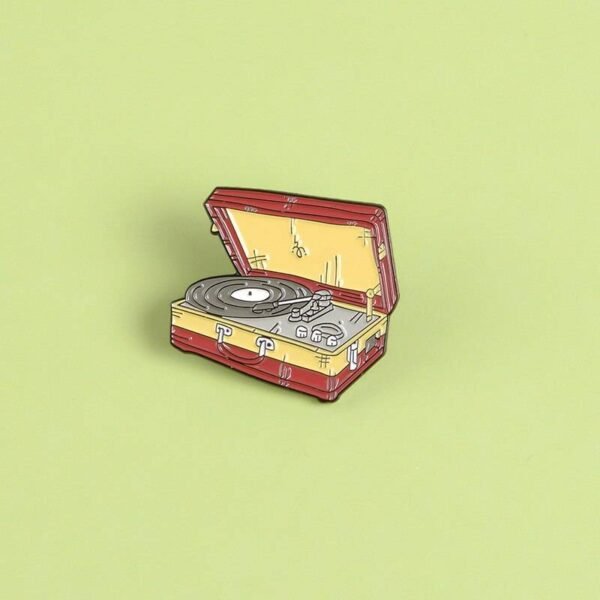 Vinyl Record Turntable Pin Jewellery & Watches Pins & Brooches