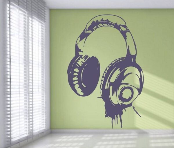 DJ Headphones Wall Sticker Home Decoration Wall Stickers