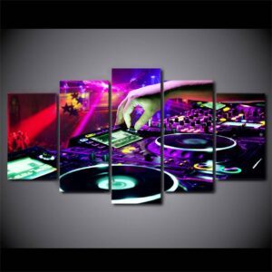 HD Printed 5 Pieces Canvas Art Painting Bar DJ Poster Wall Carnival Night Pictures for Living Room Decor Free Shipping NY-7295B Home Decoration Wall Decor