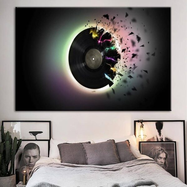 Pictures DJ Painting Home Decoration Wall Artwork Canvas Hd Prints Modular Fashion Modern Music Poster For Living Room Framed Home Decoration Wall Decor