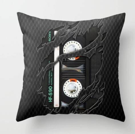 New Vintage Black and White Vintage Record Camera Series Pillow Sleeve Polyester Sofa Cushion Pillow Cover Home Decoration  … Home Decoration Pillow Cases