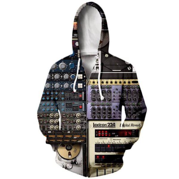 PLstar Cosmos Ableton Live Crewneck hoodies 2018 New style Fashion Hoodie DJ disco 3d Print Men Women Hip hop Hooded sweatshirt Exclusive DJ Fashion Hoodies Jackets Sweaters