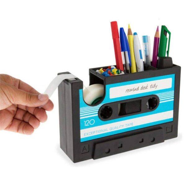 Cassette Tape Pen Holder Office Supplies Gadgets & Gifts