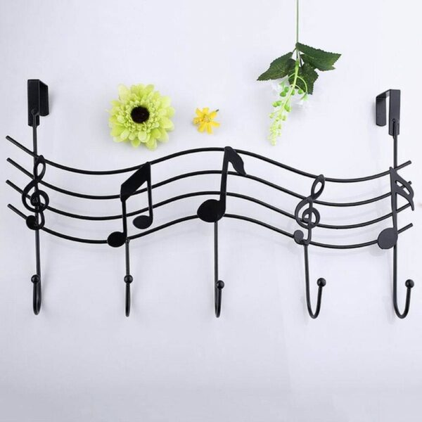 New Wrought Iron Musical Instrument Door Behind The Hook Nail-Free Seamless Clothing Rack 40FP21 Fast delivery Ship Dropshipping Home Decoration