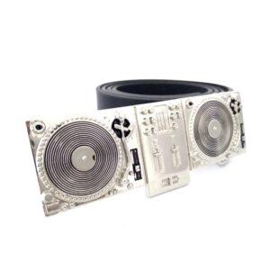 Vintage PU Leather Belt with DJ Turntable Set Belt Buckle Belts & Belt Buckle Jewellery & Watches