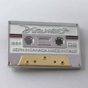 Luxury Retro Tape Cassette Belt Buckle Belts & Belt Buckle Jewellery & Watches