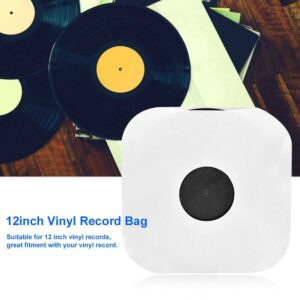 20PCS 12inch Vinyl Record Protecter White Plastic Bag Anti-Static CD Player Record Sleeves Protective Case Cover Record Sleeves DJ Tools