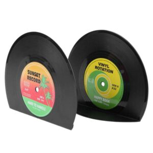 Vinyl Record Shaped Bookends Office Supplies Bookend Home Decoration