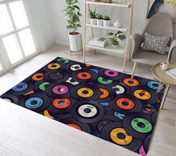 Square Vinyl Print Carpet Carpets Home Decoration