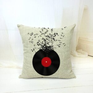 Record Music Notes Pillow Case Home Decoration Pillow Cases