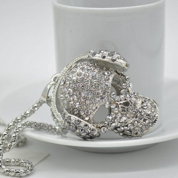 Skull Headphone Pendant Necklace Jewellery & Watches Necklace