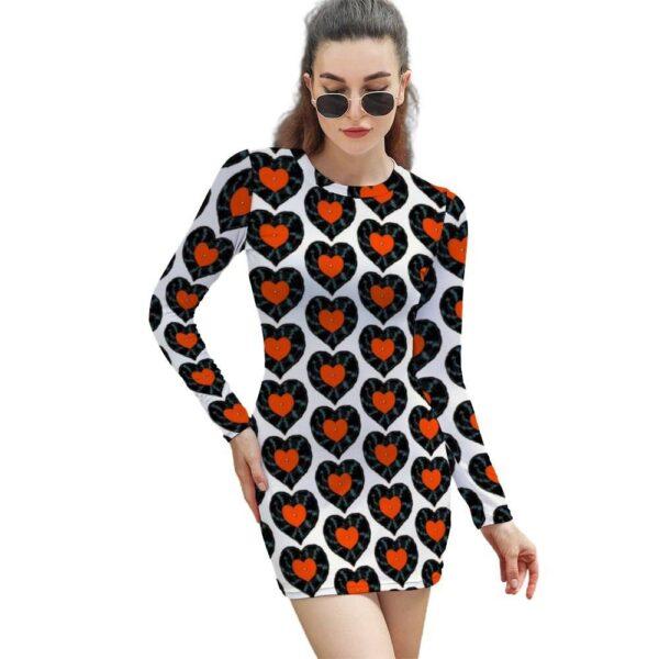 Vinyl Record Dress Long Sleeve Exclusive DJ Fashion Women's Exclusive DJ Fashion