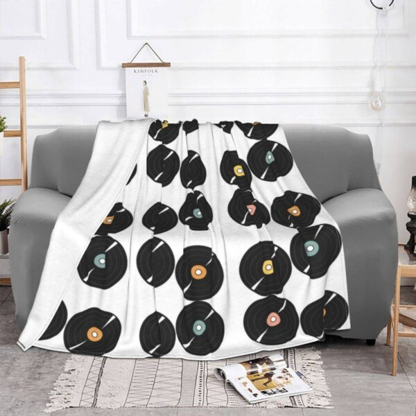 Pastel Vinyl Records Blanket Blankets Home Decoration
