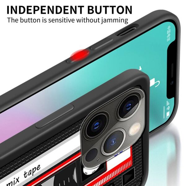 Black Soft Phone Case For iPhone 11 12 Pro Max 7 8 Plus Cover For XR SE 2020 X XS 6 6S 5 5S Silicone Shell Old Cassette Audio Gadgets & Gifts Phone Cases