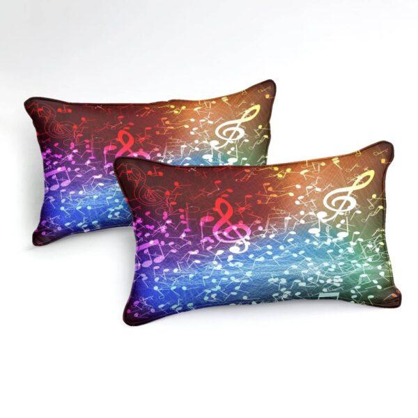 3 Pieces Rainbow Music Duvet Set Duvet Home Decoration