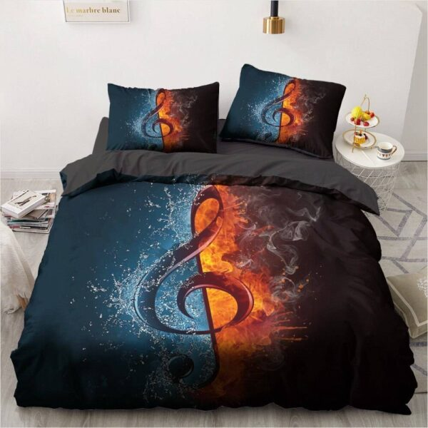 3D Music Duvet Cover Set Duvet Home Decoration