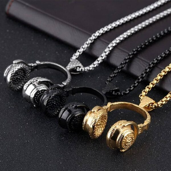 DJ Music Headphone Pendant Jewellery & Watches Necklace