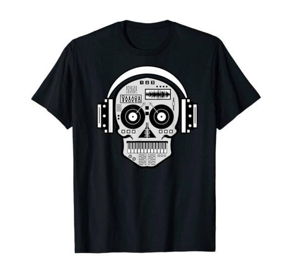 DJ Skull Headphones T-Shirt Exclusive DJ Fashion T-Shirts