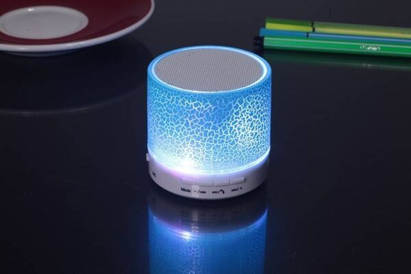 Bluetooth Speaker with Colored LED Light Bluetooth Speakers Gadgets & Gifts
