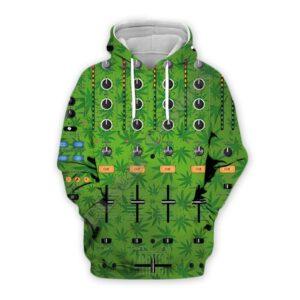 Cannabis DJ Mixer 3D Print Hoodie Exclusive DJ Fashion Hoodies
