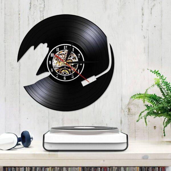 Vintage Vinyl Record Wall Clock Clocks Home Decoration