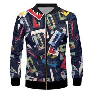 Retro Cassette Zip Up 3D Jacket Exclusive DJ Fashion Jackets