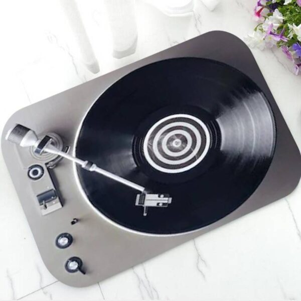 Vinyl Record DJ Turntable Doormat Carpets Doormats Home Decoration