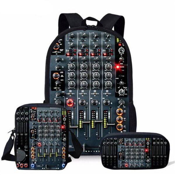 Backpacks with DJ Equipment Print Backpack Bags