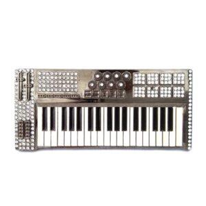 Synthesizer Keyboard with Rhinestones Belt Buckle Belts & Belt Buckle Jewellery & Watches