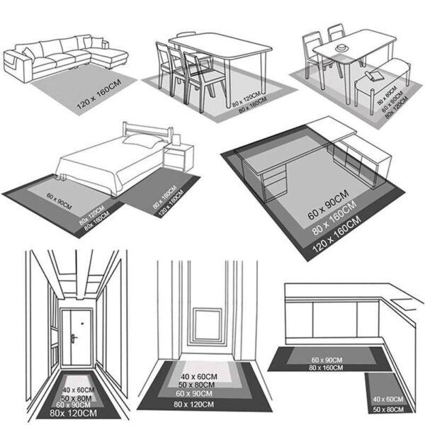 Turntable 3D Print Carpets Carpets Home Decoration